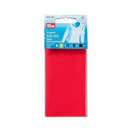 Flickstoff aufbügelbar, 12 x 45cm, rot. Art. 929407