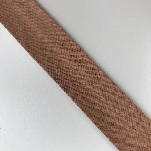 Baumwollpopeline - Schrägband, nougat. Art. SW11652