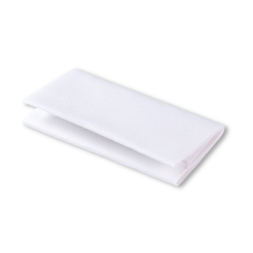 Flickstoff Köper, aufbügelbar, 12 x 45cm, weiß. Art. 929524