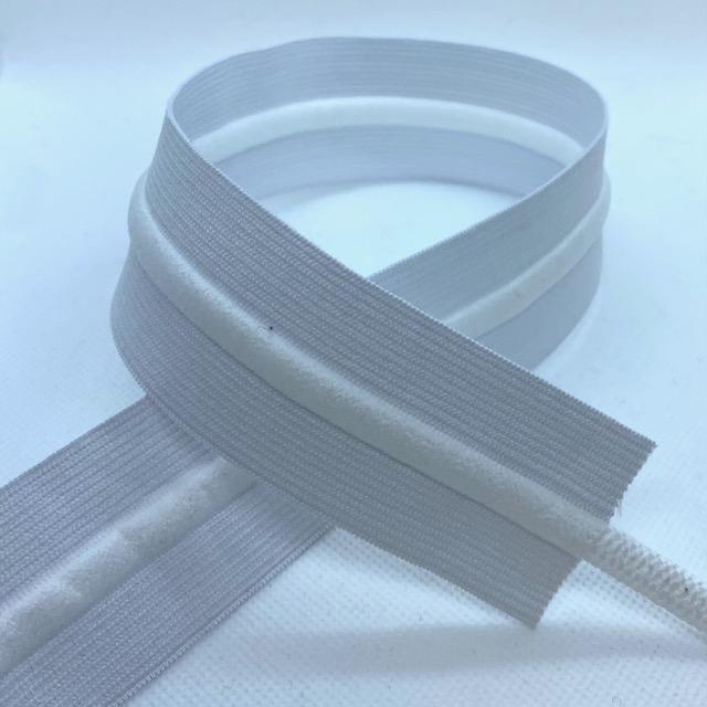Gummiband 40mm, mit Kordel weiß . Art. 691038-12