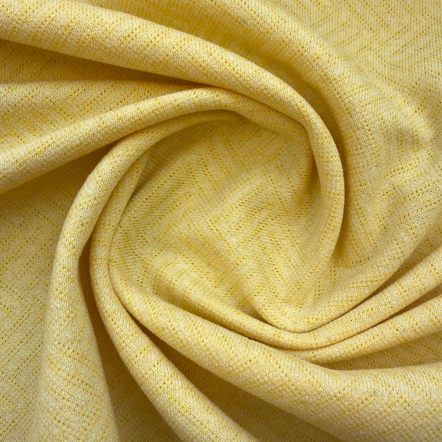 Strick Jacquard aus recycelter Baumwolle, gelb. Art. 319016.41