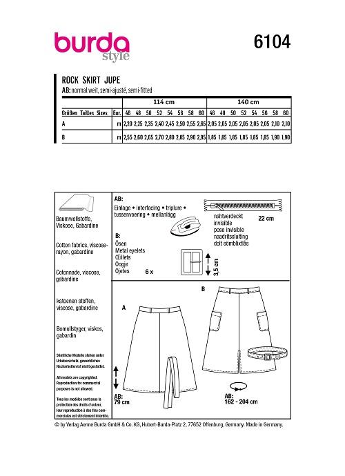 Ausgestellte Midi-Röcke #6104
