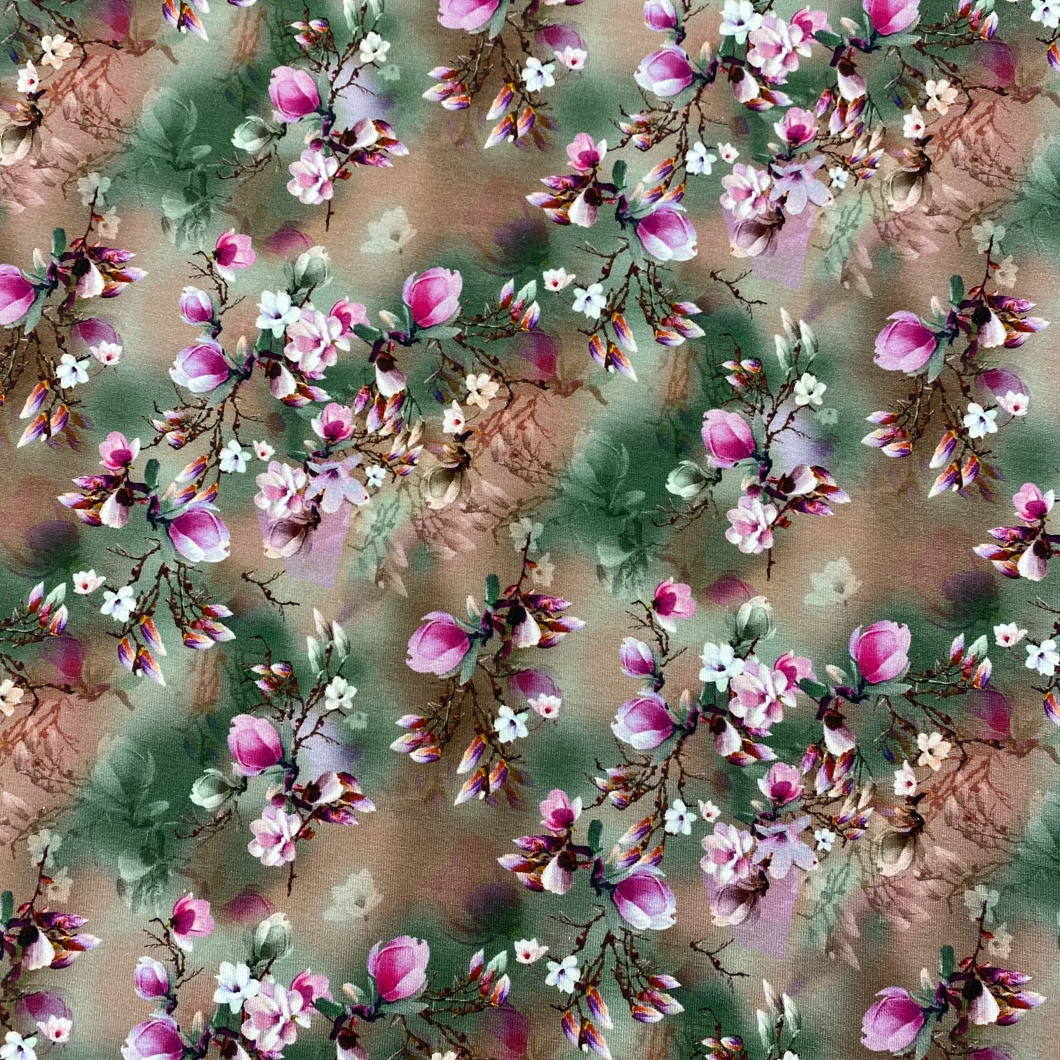 Viskosenjersey, zarte Blumen, Digital Druck. Art. 4991-1518