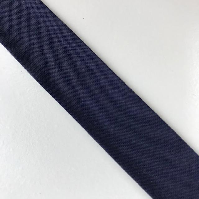 Baumwollpopeline - Schrägband, dunkelblau. Art. SW11648