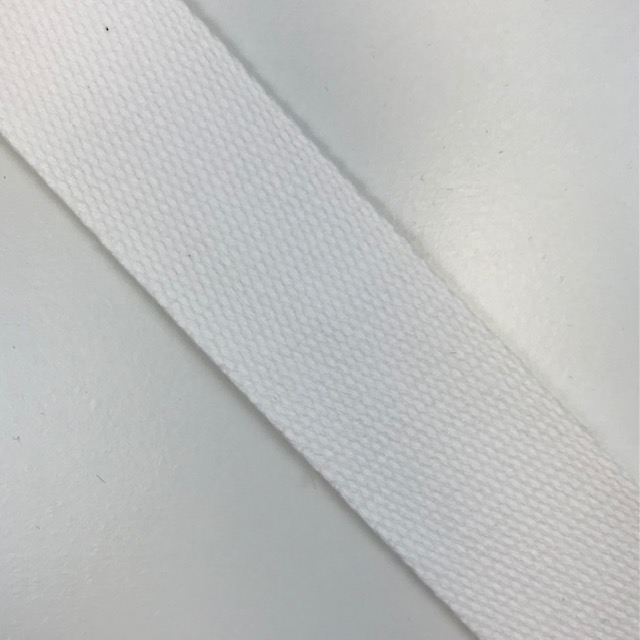 Baumwollgurtband  40 mm,  Union Knopf, weiß. Art. SW11634