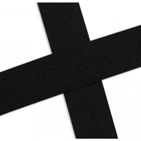 Elastisches Einfassband , matt - schwarz. Art.13-020-569