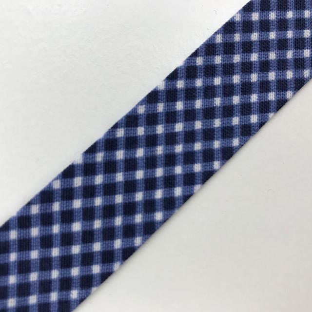 Baumwollpopeline - Schrägband, Raute, blau/weiß. Art. SW11679