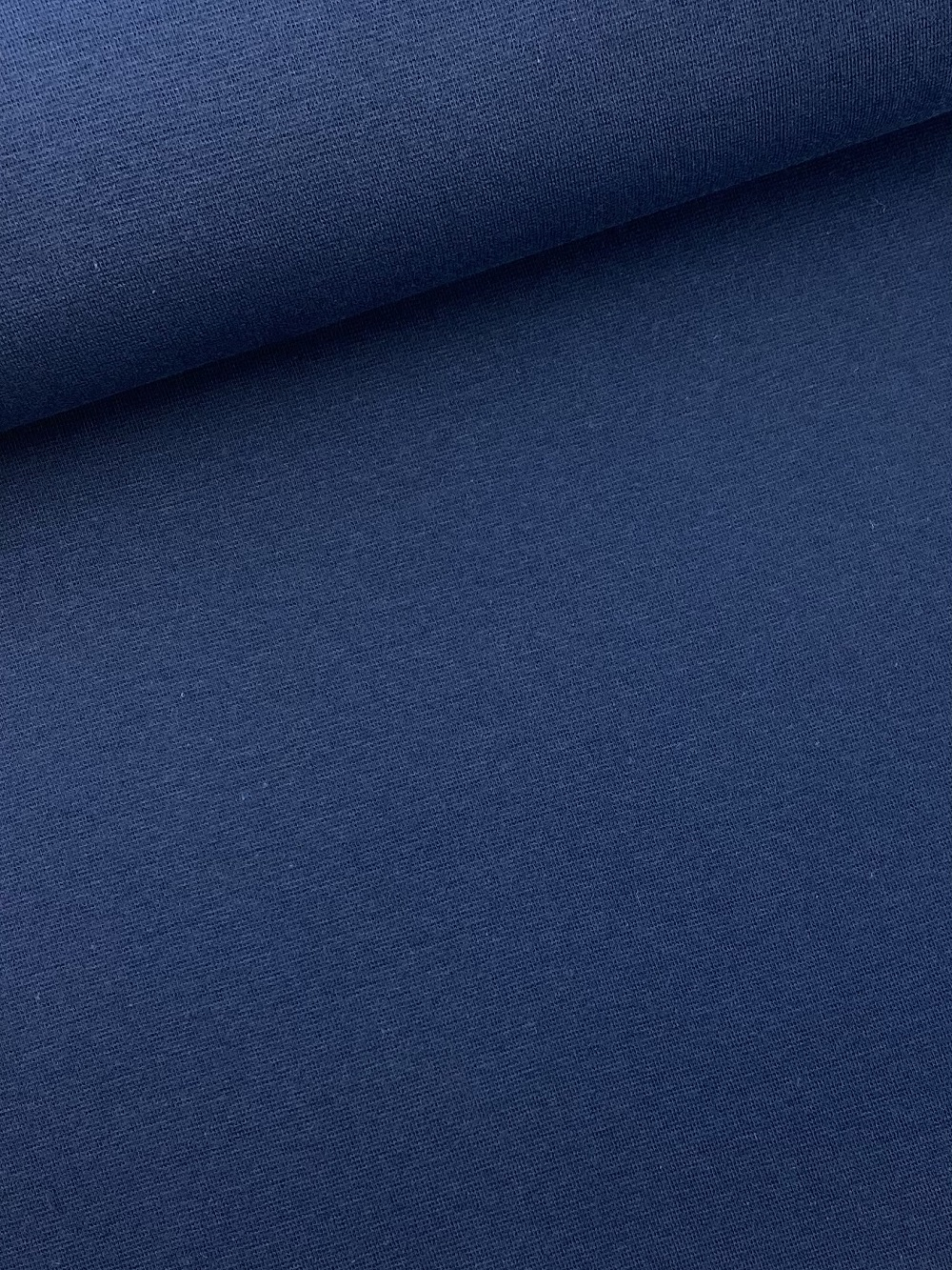 Bündchenware (glatt), marine blau. Art. SW10642