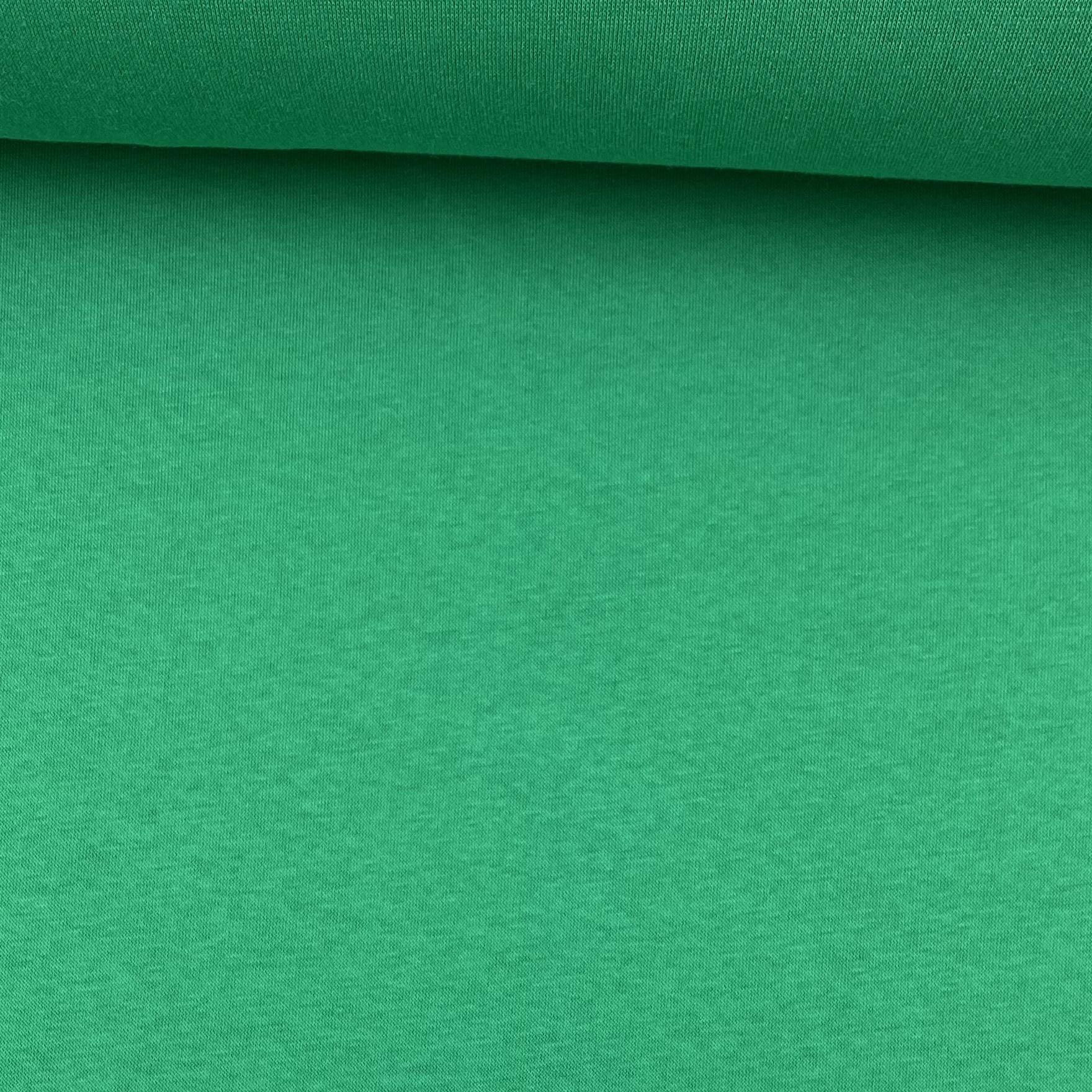 Soft French Terry/Sweatstoff angeraut, grün, uni. Art. SW10731