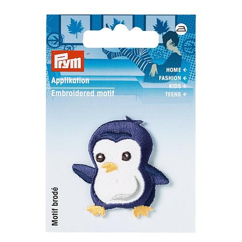 Applikation Pinguin, blau.  Art. 925549