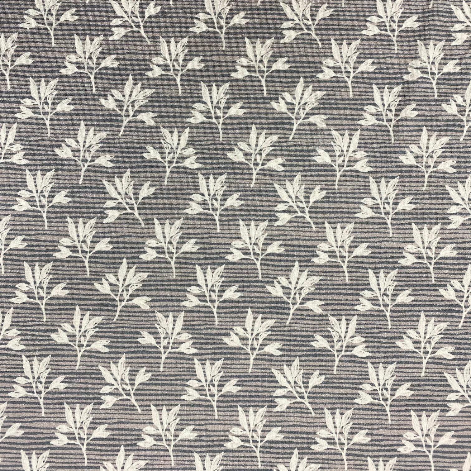 Viskosenjersey Crepe von FVJ, Blätter. Art. FVJ-2646