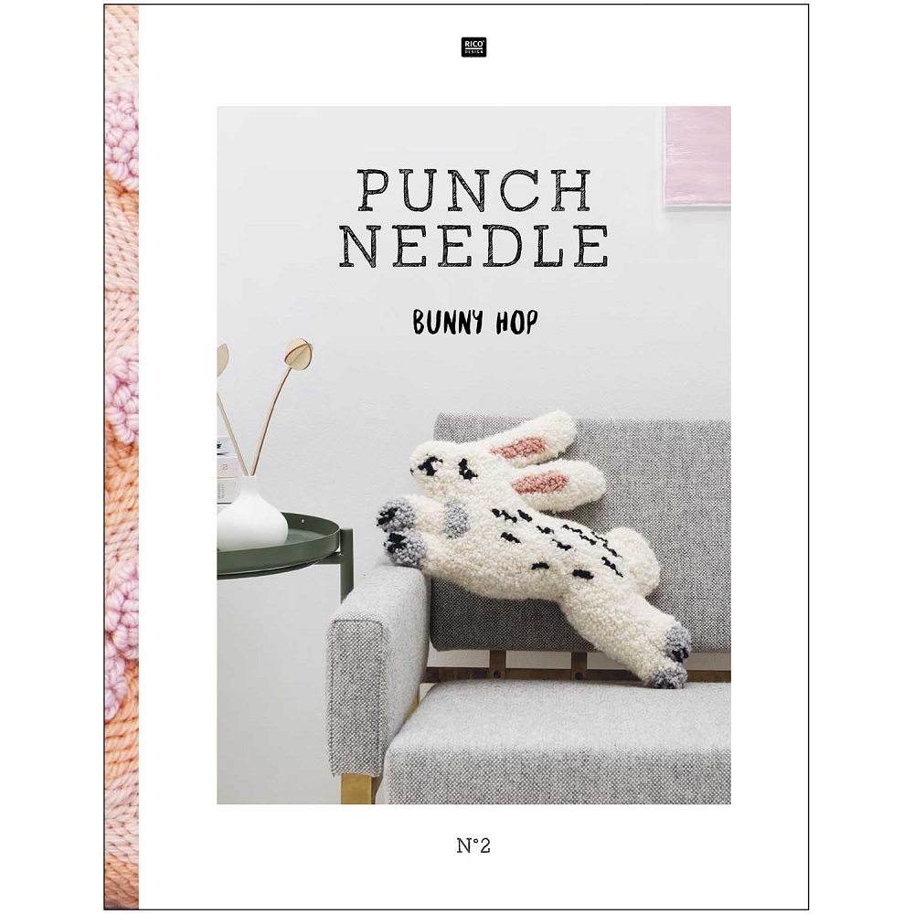 RICO DESIGN STICKBUCH PUNCH NEEDLE NO.2 BUNNY HOP