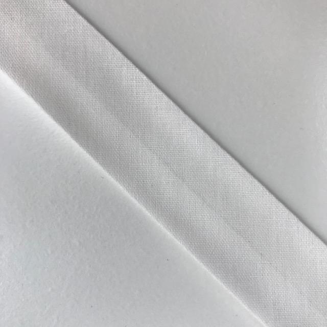 Baumwollpopeline - Schrägband, weiß. Art. SW11661