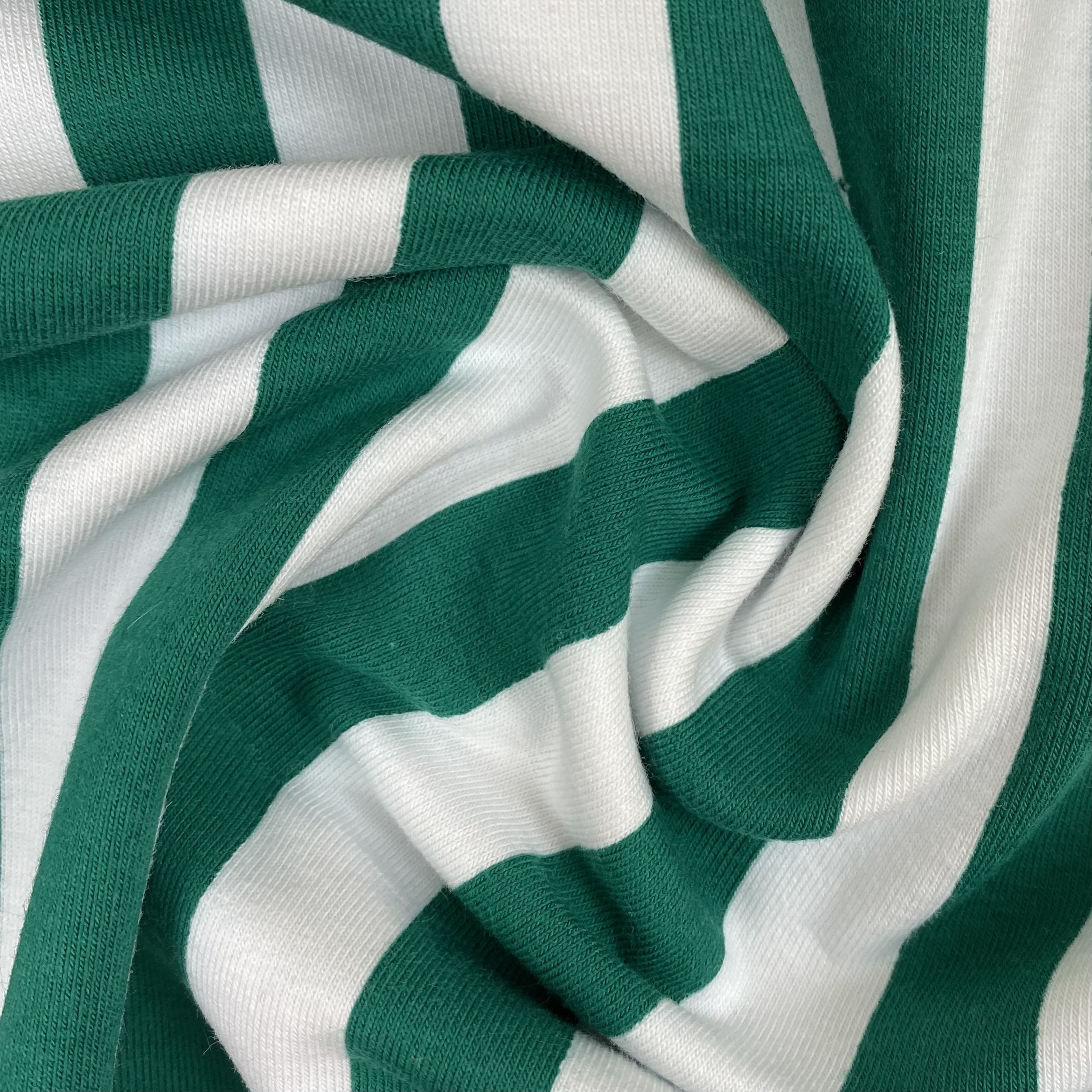 Baumwolljersey, Streifen grün&weiss. Art. KC 9590-828