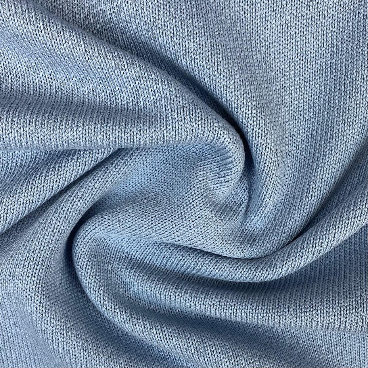 Feiner Strickstoff, Baumwolle hellblau. Art. 4199-401