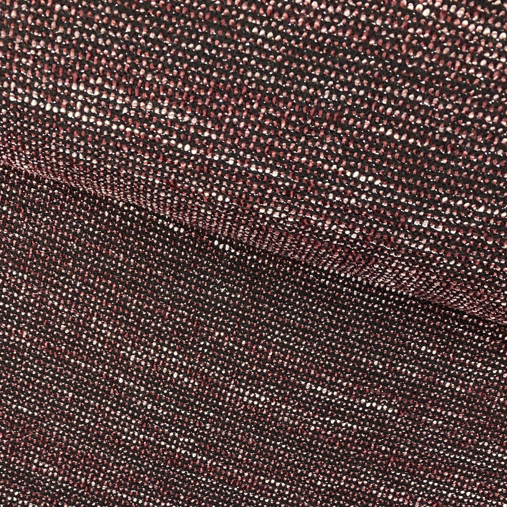 Bouclé Stoff Tweed, bordeauxrot/schwarz. Art. SW11201