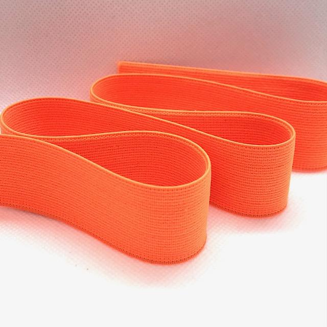 Gummiband, 3 cm, neon orange. Art. 030-593