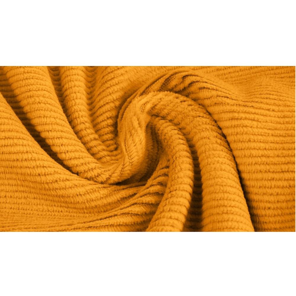 Gewaschener Baumwollcord, Cord-Jersey, gelb. Art. 4527-434