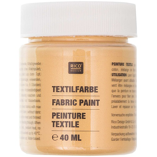 Textilfarbe, gold, 40 ml, Rico Design. Art. 7014.527