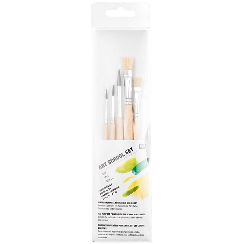 Pinsel, Art School Set, 5 Teilig, Rico Design. Art. 7275.300