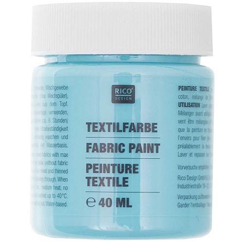 Textilfarbe, türkis, 40 ml, Rico Design. Art. 7014.514