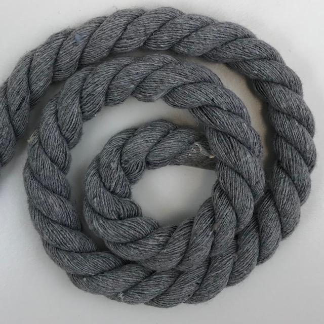 Baumwollkordel 10 mm, grau. Art. SW11534