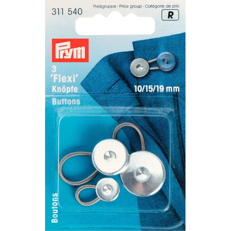 Flexi-Knöpfe, silberfarbig, Prym - Art. 311540