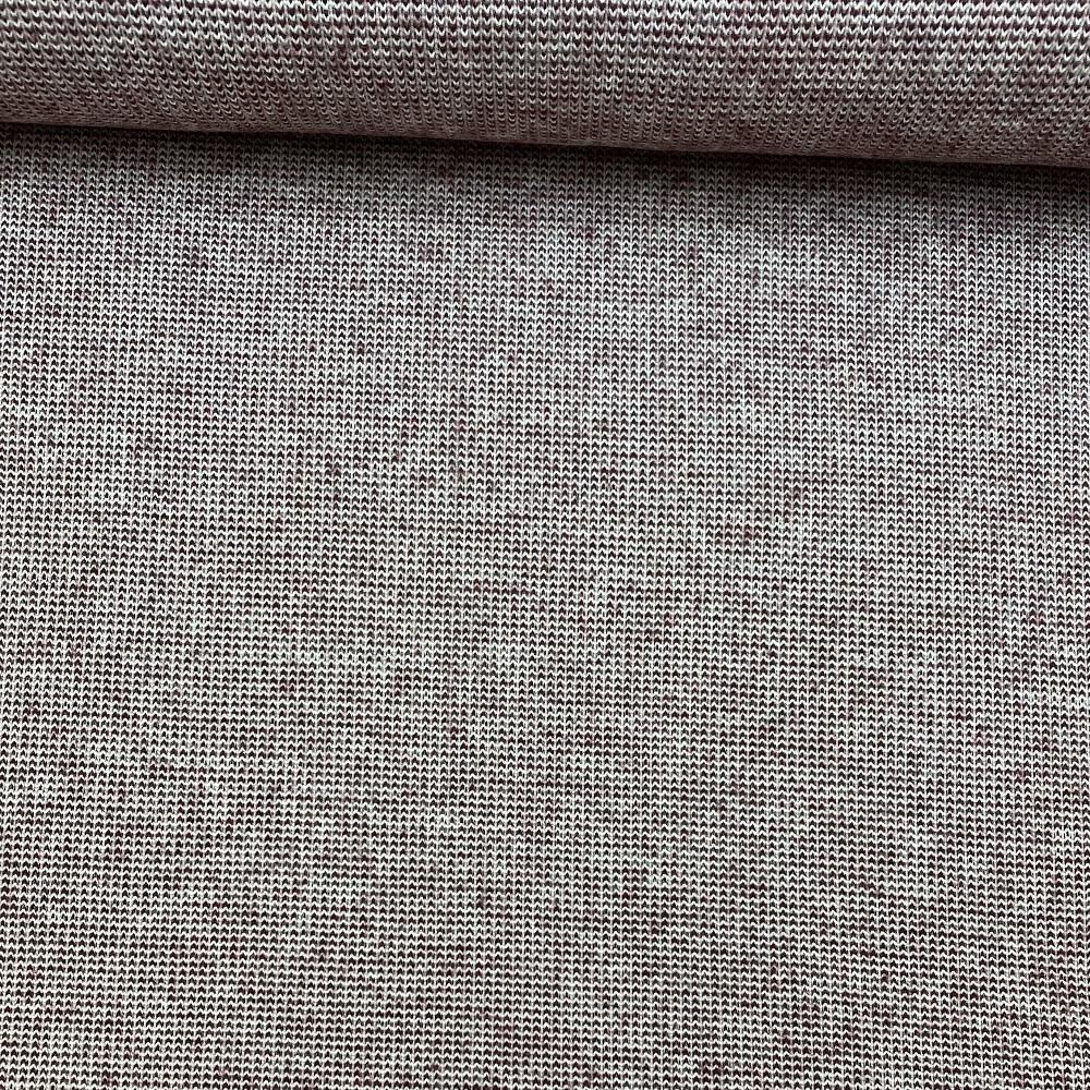 Strick Jacquard aus recycelter Baumwolle, bordeaux. Art. 08138.007