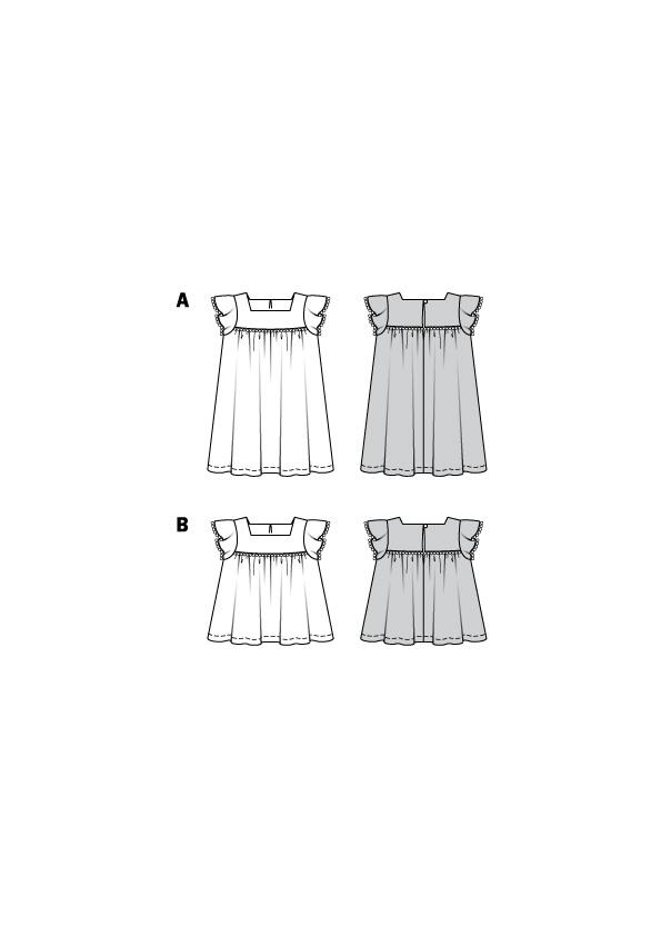 Kleider für Kinder. Burda #9281