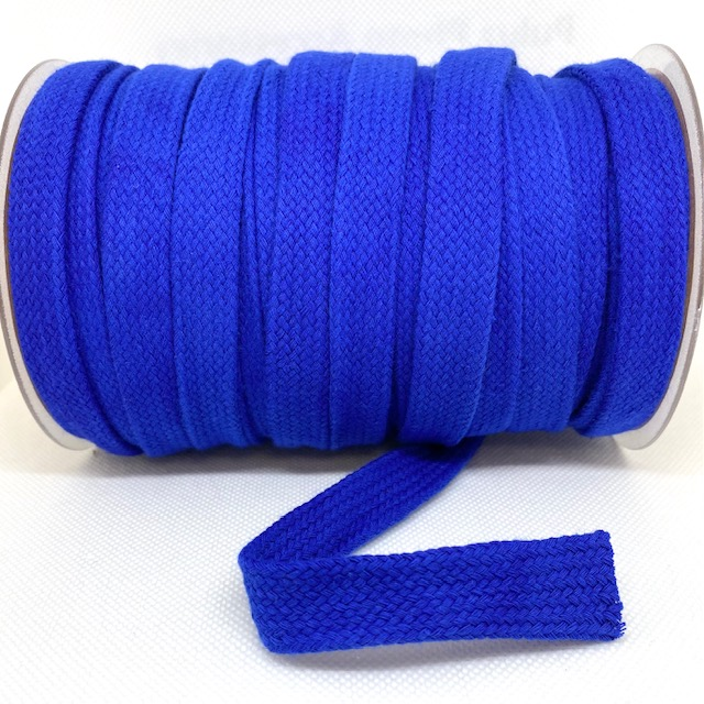 Baumwollkordel flach, 20 mm, Cobalt  Art. 020-507