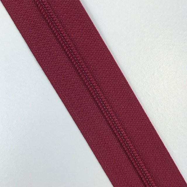 Endlosreißverschluss Meterware 3 mm, Union Knopf, dunkelrot, Farbe 54. Art. 4511