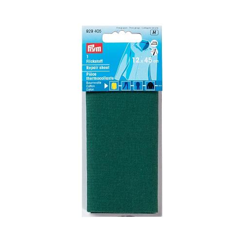 Flickstoff aufbügelbar, 12 x 45cm, grün. Art. 929405