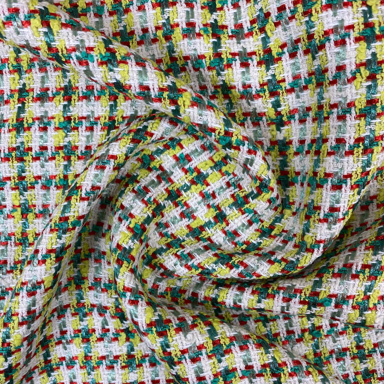 Bouclé Stoff Tweed, apfelgrün.  Art. SW11204