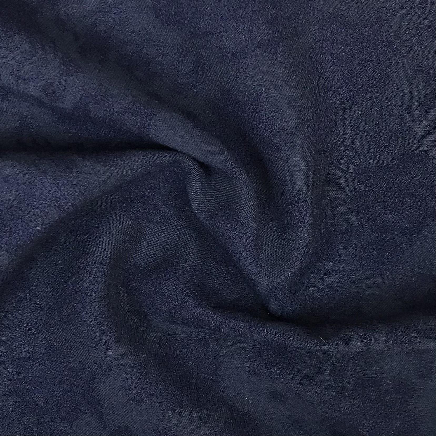 Bengaline Stoff, Blumen, dunkelblau. Art. SW11207