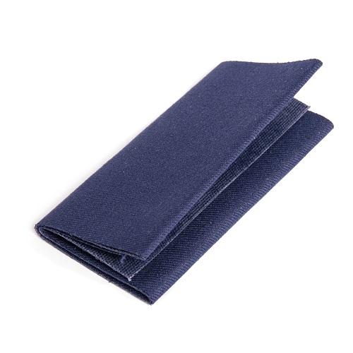 Flickstoff Köper, aufbügelbar, 12 x 45cm, dunkelblau. Art. 929522