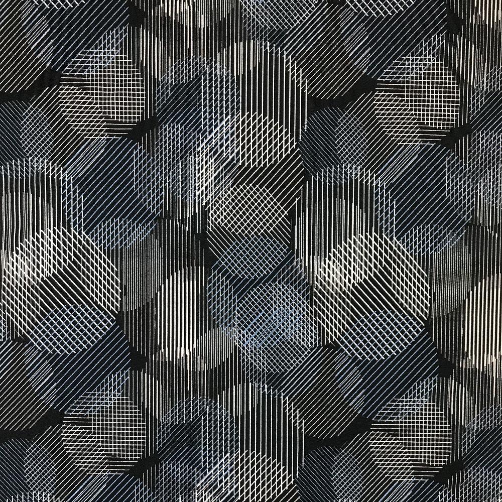 Viskosenjersey Crepe von FVJ, Große Kreise. Art. FVJ-2045