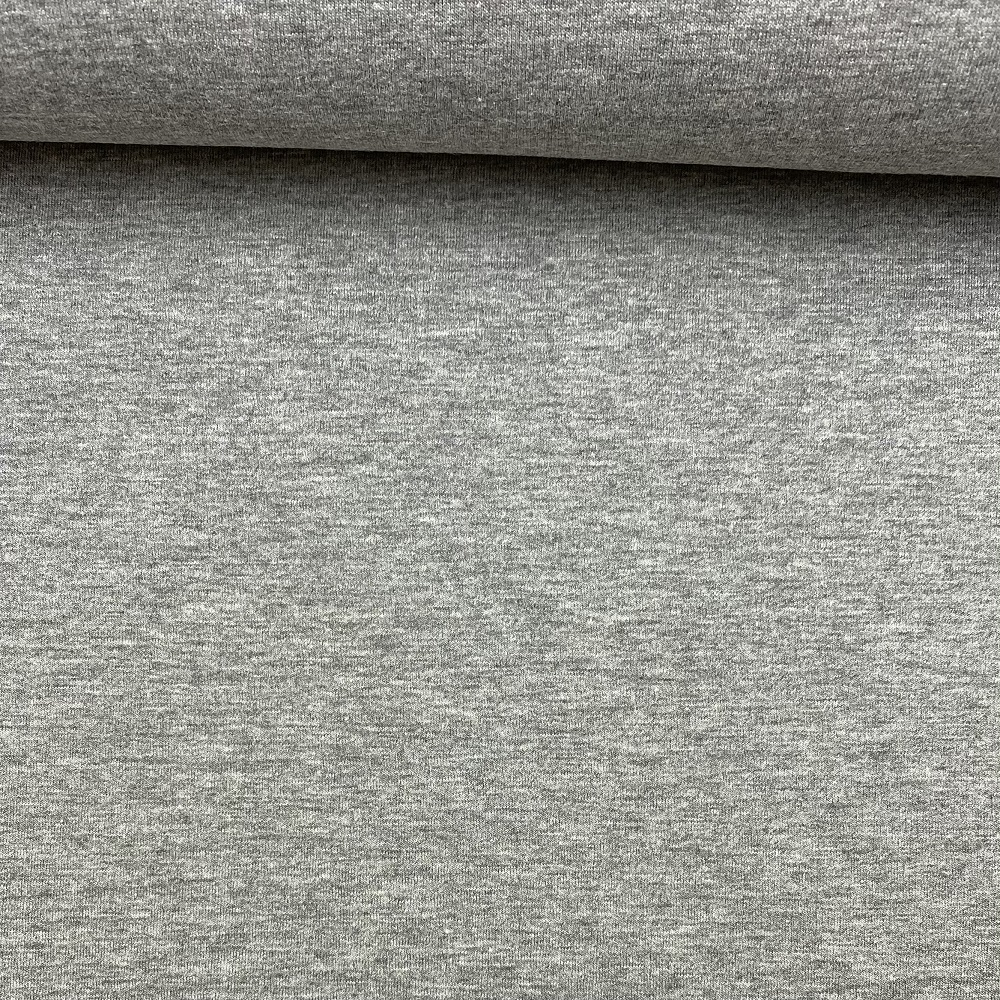 Soft French Terry/Sweatstoff angeraut, grau meliert, uni. Art. 4283/165