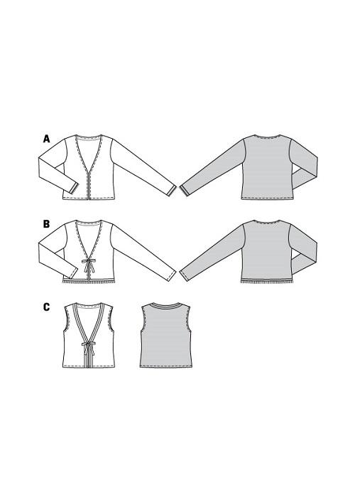 Weste und Jacken mit und ohne Bindebänder #6120