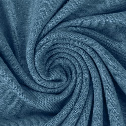 Baumwolljersey, uni, jeansblau meliert. Art.9733/1501