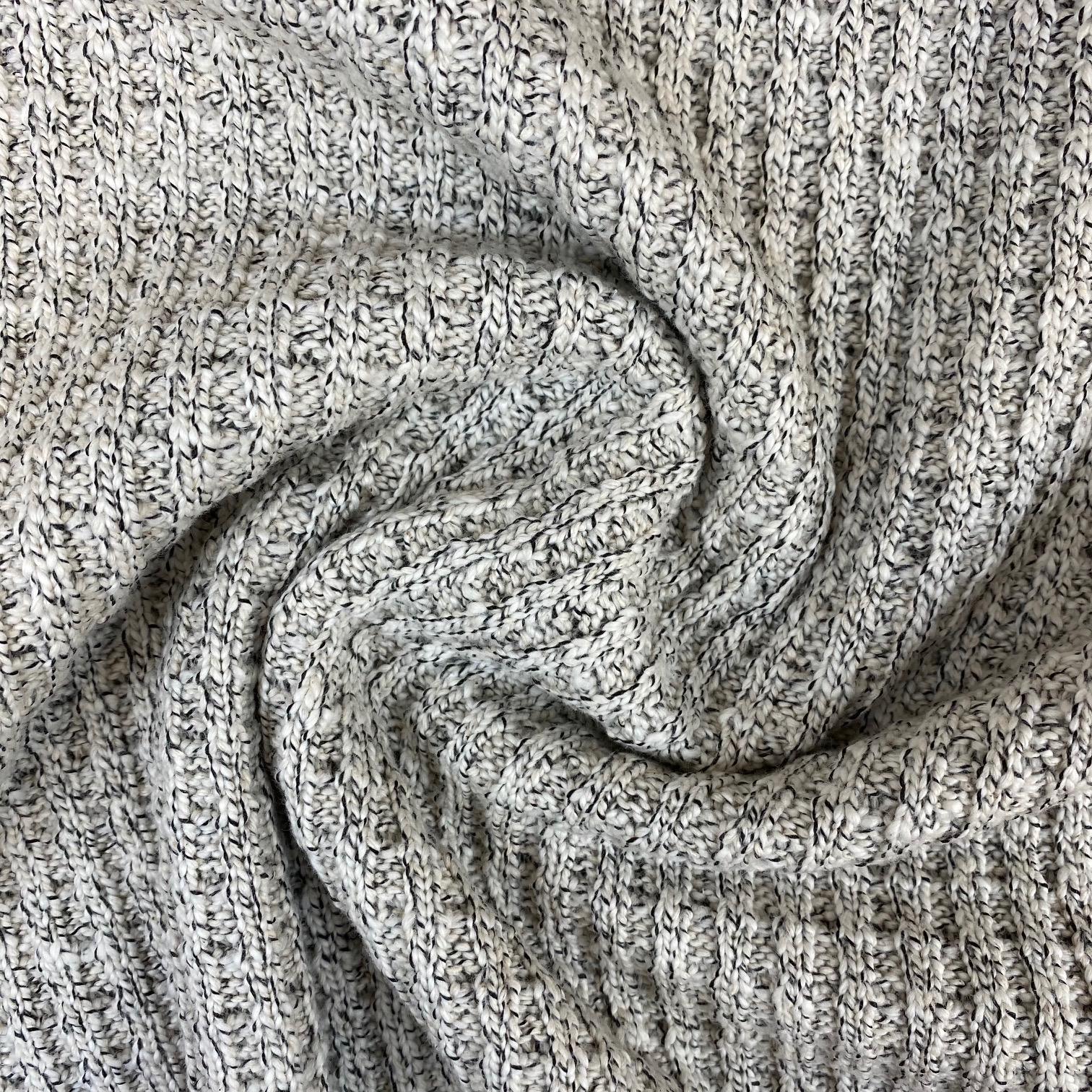 Strickstoff Baumwolle, hellgrau meliert. Art. 4808-51
