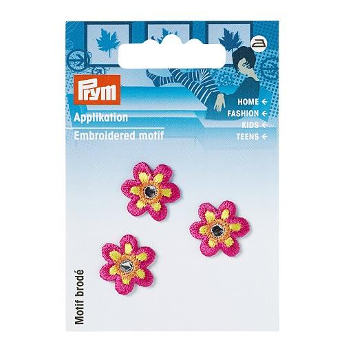 Applikation Blume klein pink mit Spiegel. Art. 926133