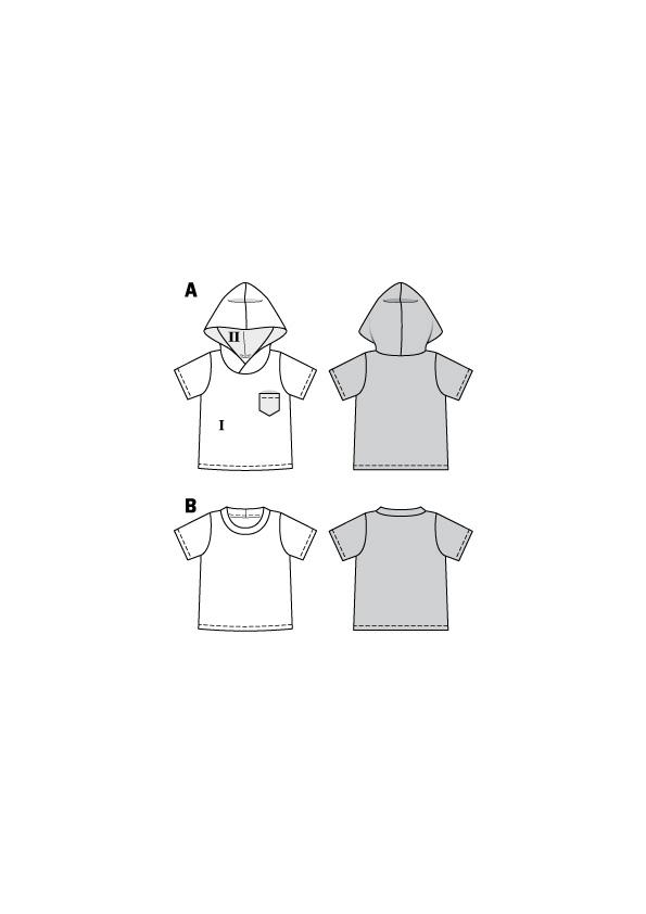 Shirt und Hoody für Kinder. Burda #9283