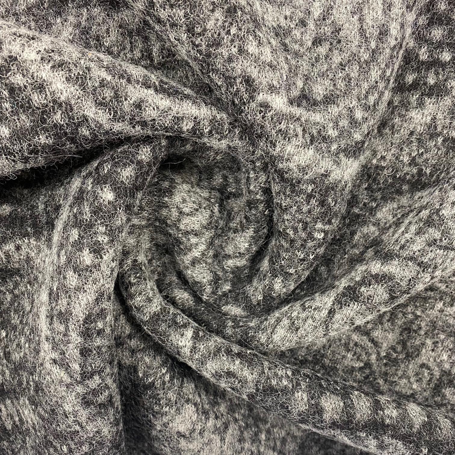 Walkstrick, Wolle gemustert, grau.  Art. 4721-02