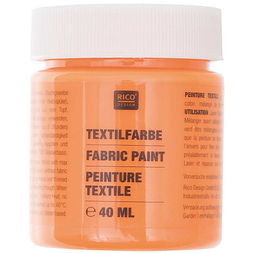 Textilfarbe, orange, 40 ml, Rico Design. Art. 7014.502