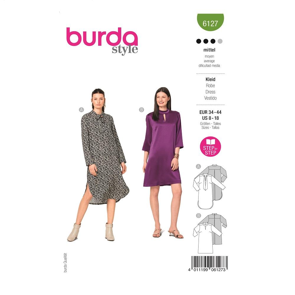 Locker geschnittene Kleider. Burda #6127