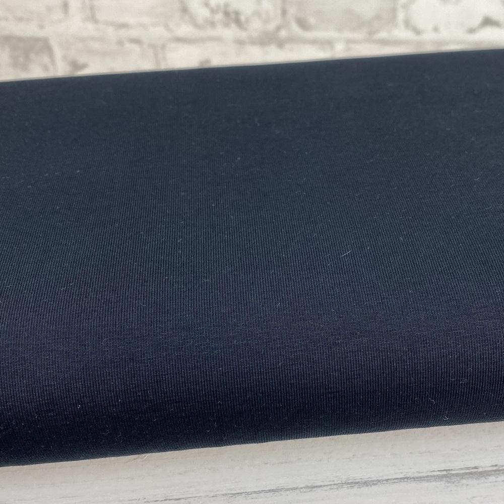 Baumwolljersey, uni, dunkelblau. Art. RS0179 009