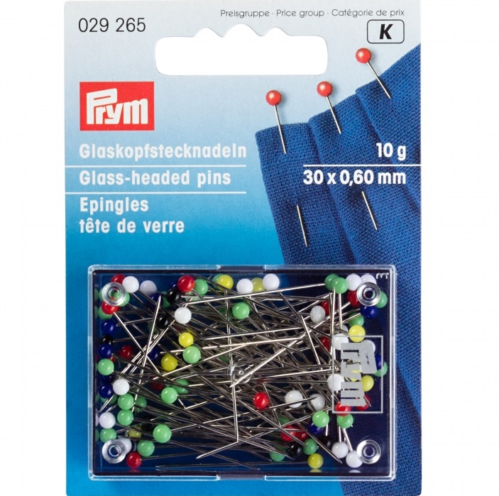 Glaskopfstecknadeln bunt, Prym - Art. 029265
