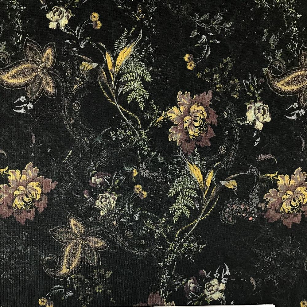 Romanit Jersey, Digital Druck Blumen. Art. SW11229
