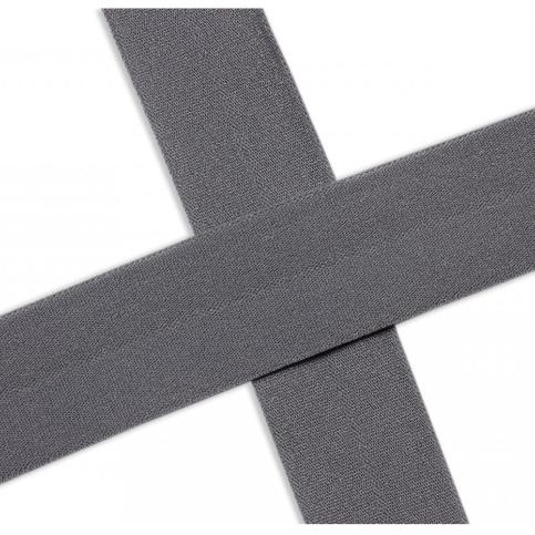 Elastisches Einfassband , matt - grau. Art.13-020-562