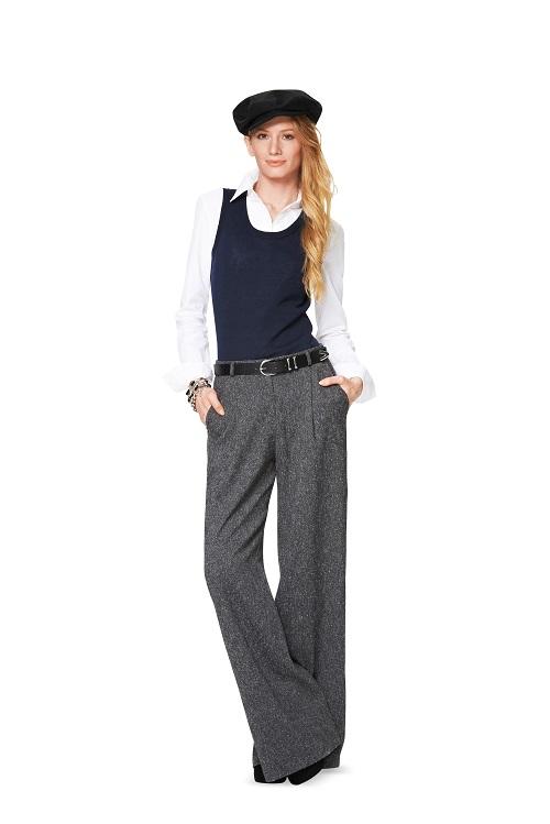 Hose mit Bundfalten und Marlene-Hose #6856